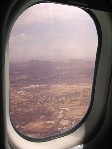 View from an airplane, leaving Arizona because it sucks