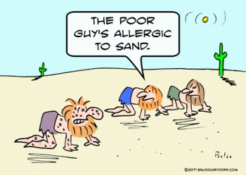 Allergies often wreak havoc on people in the desert.