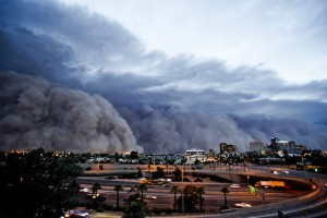 Dust storms (or haboobs) in Arizona