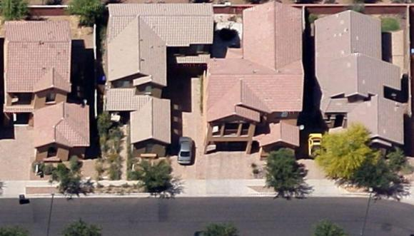 This is an example of typical cluster homes in Arizona