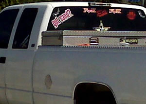 This is a typical pickup truck often seen in Arizona