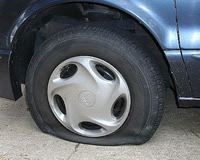 Low tire pressure can lead to tire failure