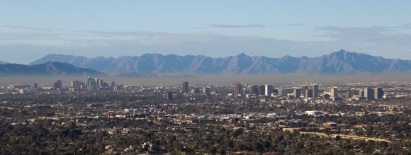 A hazy brown cloud over Phoenix